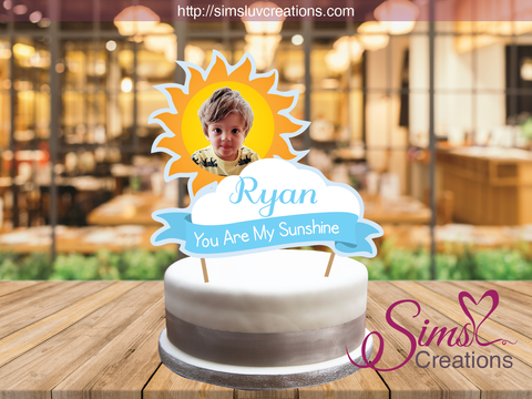 YOU ARE MY SUNSHINE BOY CAKE TOPPER | CAKE CENTERPIECE | CAKE DECORATIONS