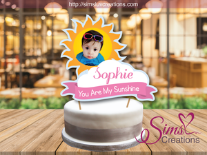 YOU ARE MY SUNSHINE GIRL CAKE TOPPER | CAKE CENTERPIECE | CAKE DECORATIONS