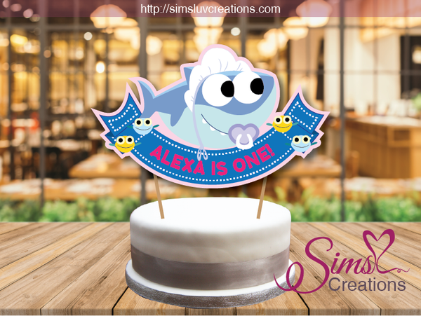 SUPER SIMPLE BABY SHARK CAKE TOPPER | CAKE CENTERPIECE | CAKE DECORATIONS