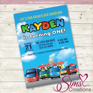TAYO THE LITTLE BUS BIRTHDAY PRINTABLE INVITATION | TAYO PARTY INVITATION