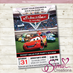 DISNEY CARS BIRTHDAY PRINTABLE INVITATION | DISNEY CARS PARTY INVITATION