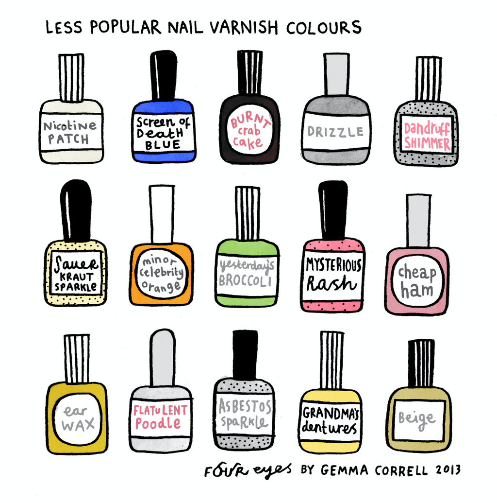 Less Popular Nail Varnish Colors