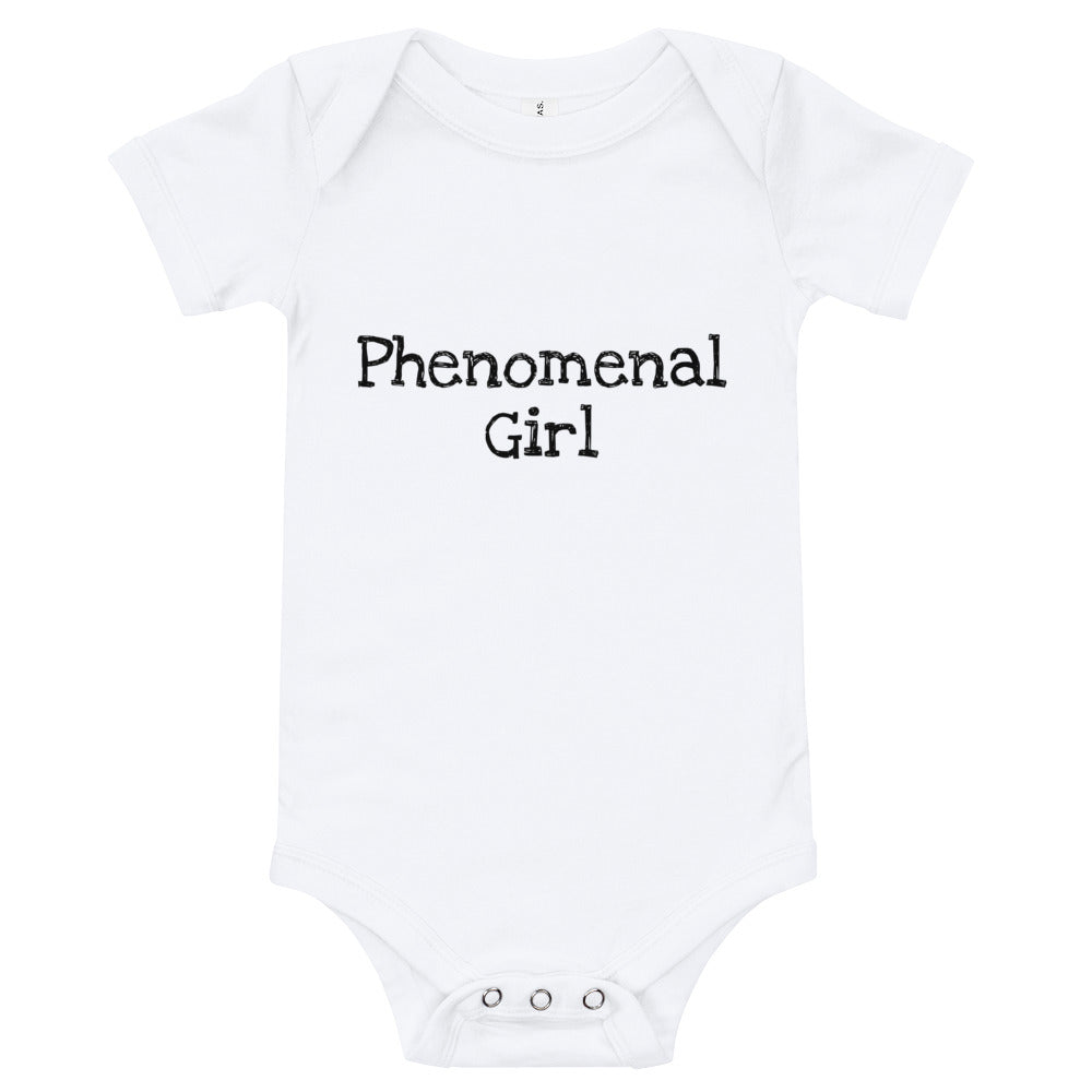 Phenomenal Girl Print Baby Bodysuit