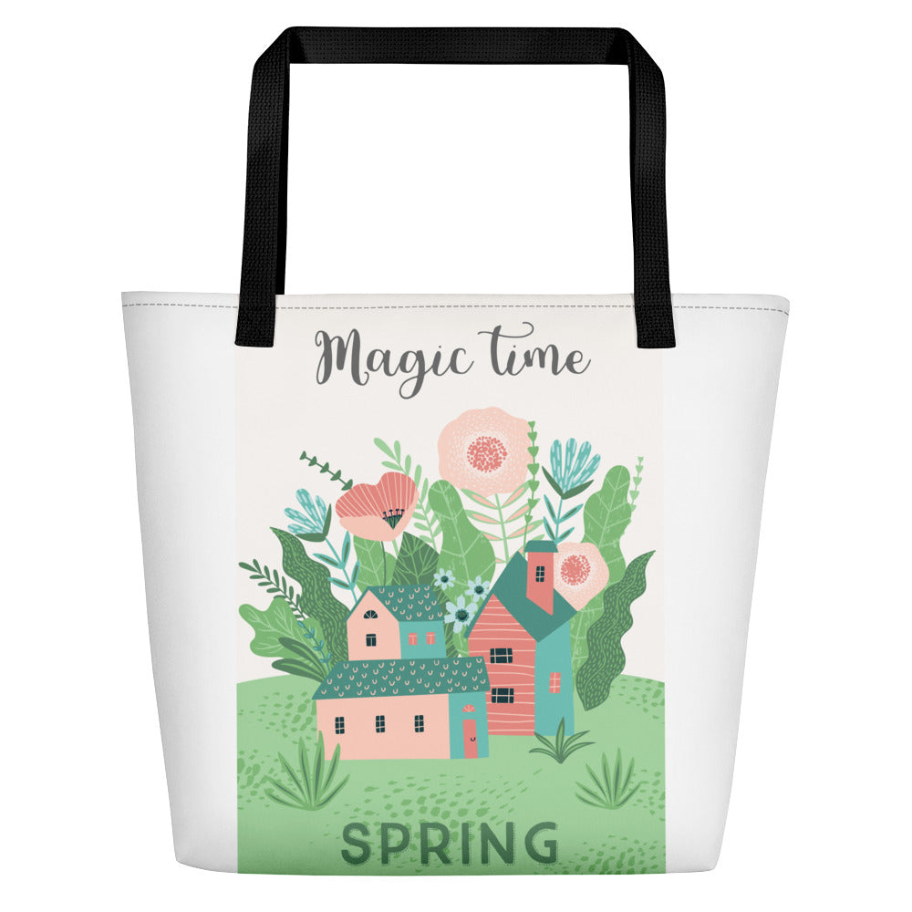 Spring Two Sided Design Tote Bag