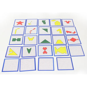 Montessori Creative Graphics Peg Board With Cards