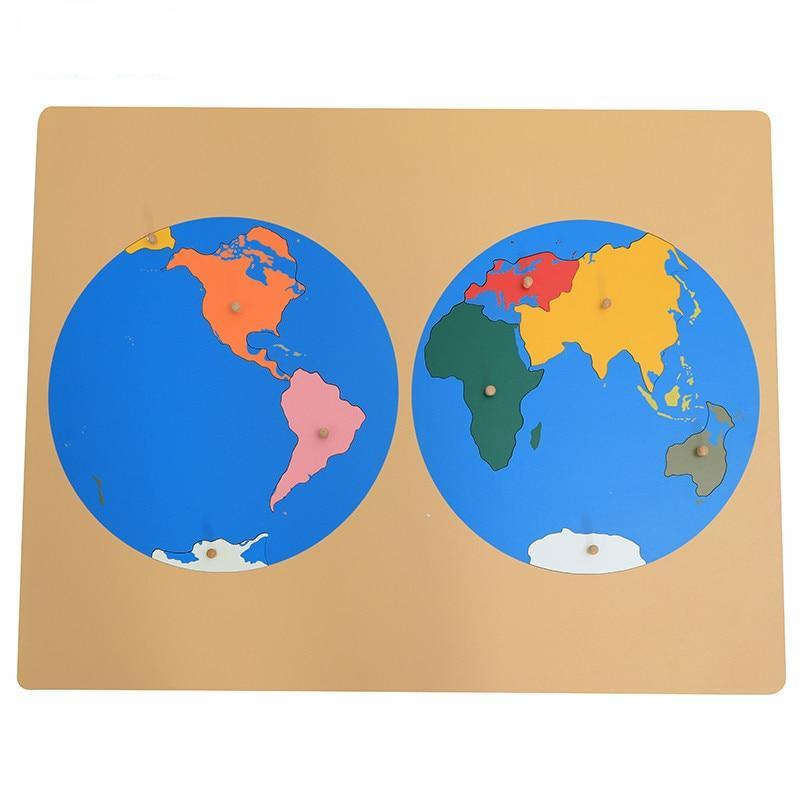 Montessori Global Puzzle Map Of World Parts