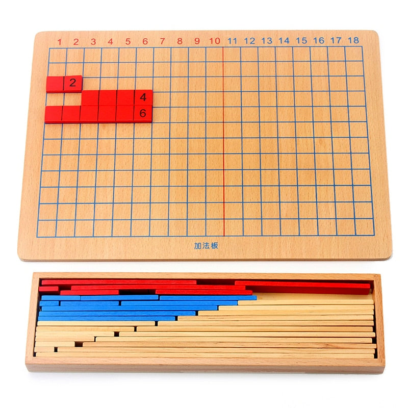 Montessori Addition Subtraction Strip Board Math Toy