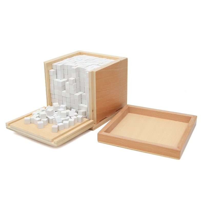 Montessori Volume Box With 1000 Cubes