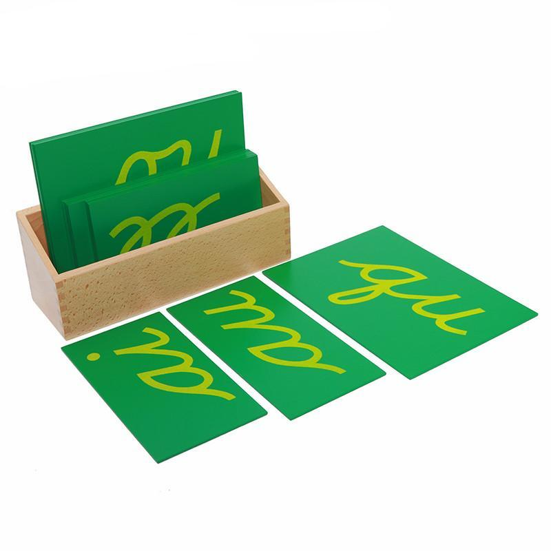 Montessori Sandpaper Double Letters Cursive With Box