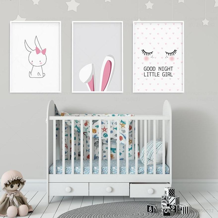 Nordic Style Girls Room Canvas Prints