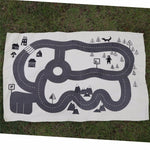 Baby Crawling Play Mat Road Track & Adventure Forest