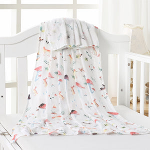 70% Bamboo 30% Cotton Baby Muslin Swaddle Blanket