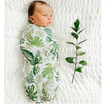 70% Bamboo 30% Cotton Baby Muslin Swaddle Blanket - Tropical