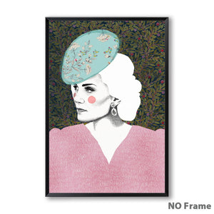 Nordic Abstract Pattern Girl Portrait Photo Decoration Mural - 13X18Cm No Frame / 4