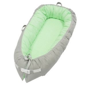 Multifunctional Portable Baby-Nest - Green & Gray