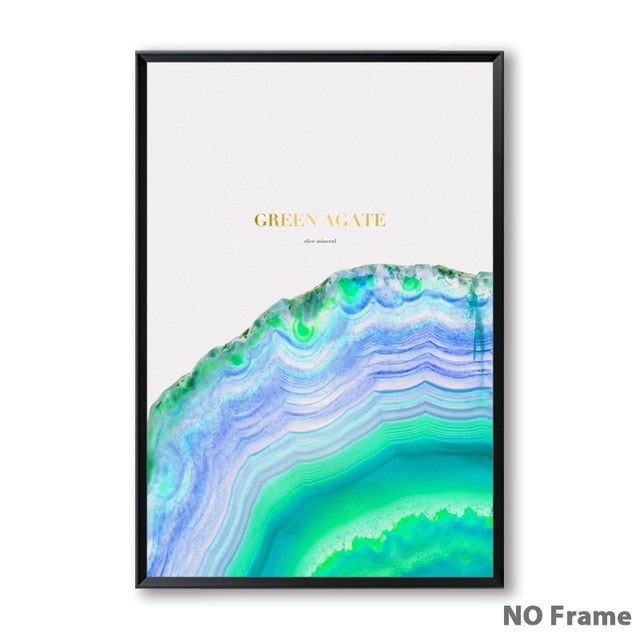 Nordic Crystals Watercolor Canvas Picture - 13X18Cm No Frame / 3