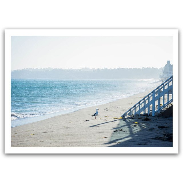 Modern Nordic Decorative Seaside Landscape Canvas Painting - 20X25Cm No Frame / 5