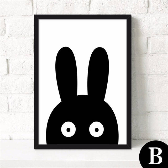 Nordic Modern Minimalist Cartoon Canvas Painting - 21X30Cm No Frame / B