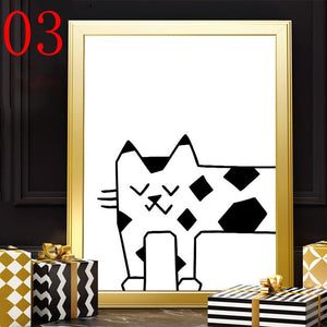 Cartoon Cat Prints Picture For Baby Room - 20X25Cm No Frame / 3