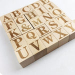 Wooden Cubes 26Pc Alphabet Letters