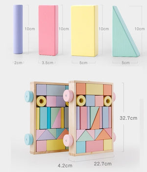 Wooden Building Block Set