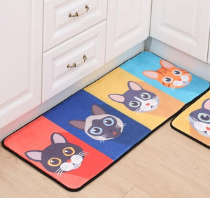 4 Cute Surprised Cats Cat-Mat