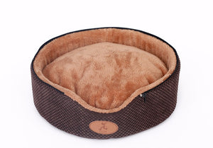 Soft Chocolate Cat Tent Bed - Removable Cover