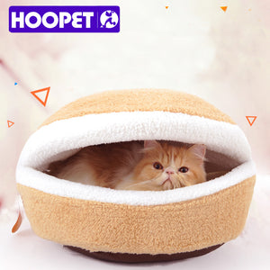 Beige Hamburger Cat House (Can Disassemble)