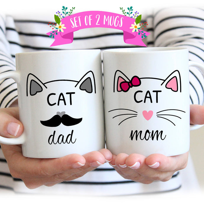 Cat Mom & Cat Dad Matching Mugs