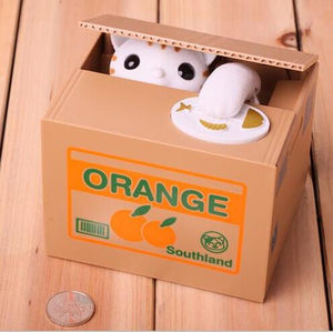 Coin Stealing Cat piggy Bank