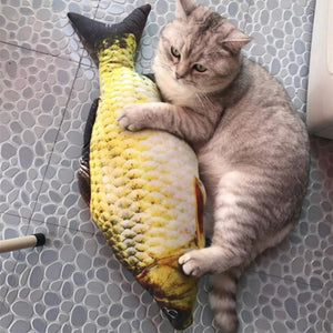 Catnip-Stuffed Fish Plush Toy