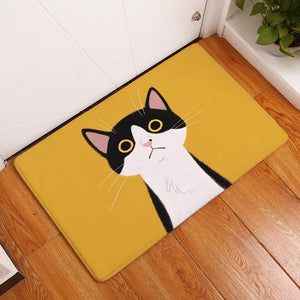 Wide Orange Eyes Cat Mat