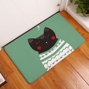 Sleeping Cat Floor Mat
