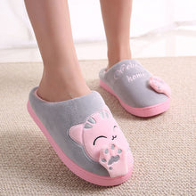 Non-Slip Pink Cat Bedroom Slippers