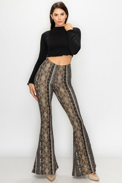 Raw Moda Gray Taupe Bellbottom Pants
