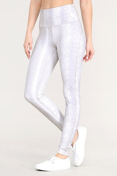 Raw Moda Pale Snake Print Highwaist Leggings