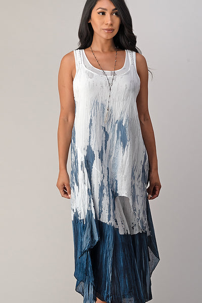 Raw Moda Cotton Tie Dye Dress