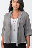Raw Moda Short Linen Jacket
