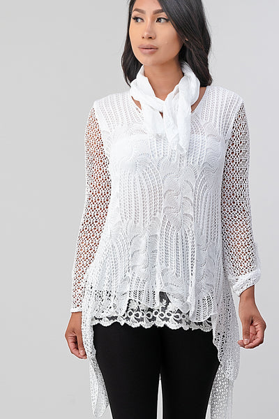 Raw Moda Lace Tunic Top Raw Moda Papillon