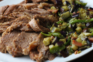 Slow cooked beef brisket with Spanish influences