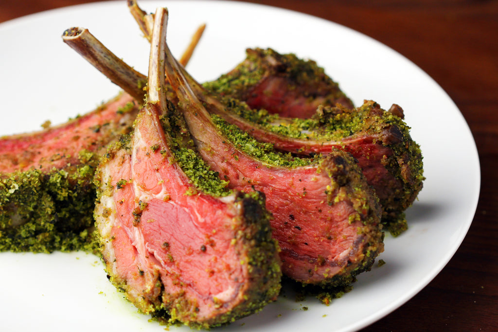 Lamb Rack with Basil Crust