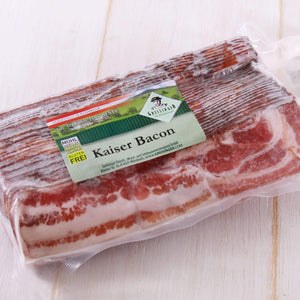 Smoked Kaiser Bacon Slices from Austria (500g)