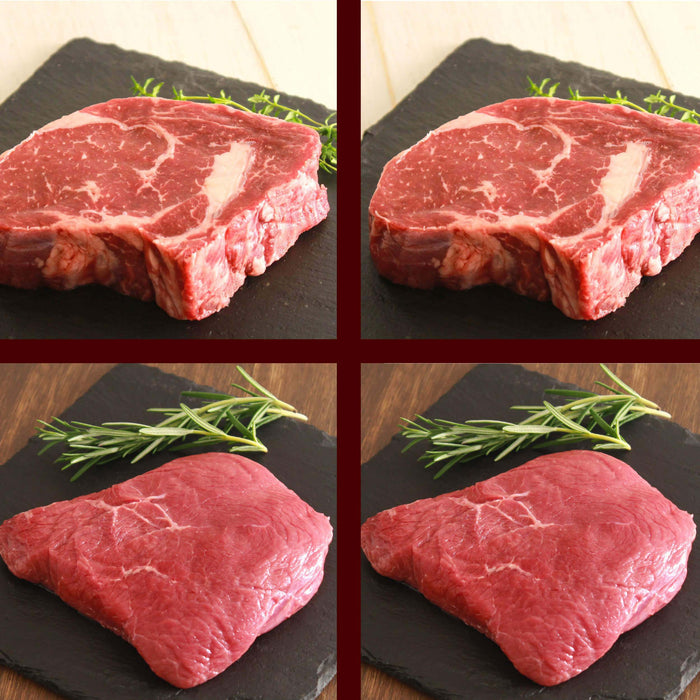 Ribeye & Rump Steak Comparison Set (4 pieces)