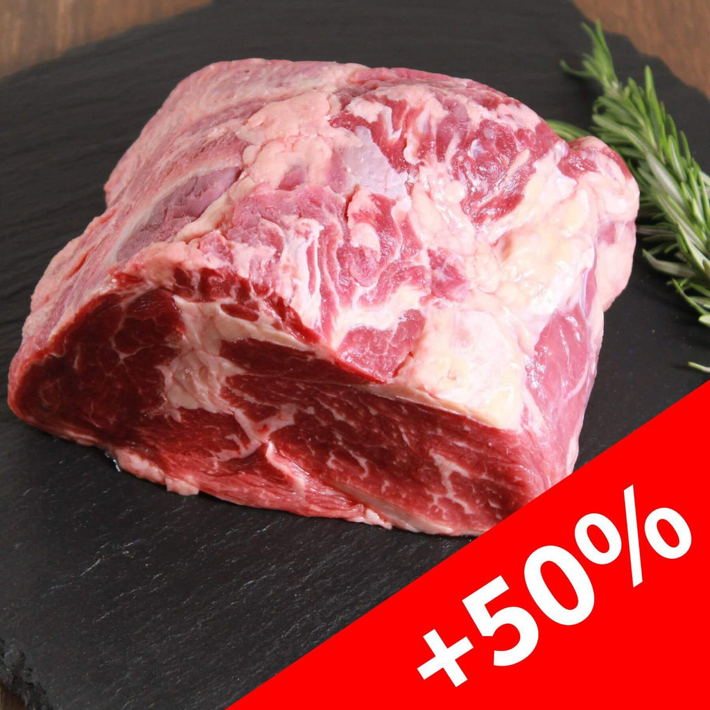 50% PLUS! Rib Roast Cube Roll Block Grass-fed