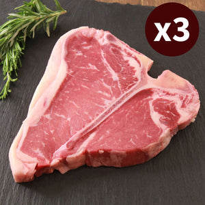3x T-Bone Steak US Choice the highlight of any barbecue T-ボーンステーキ お肉ネット通販サイト