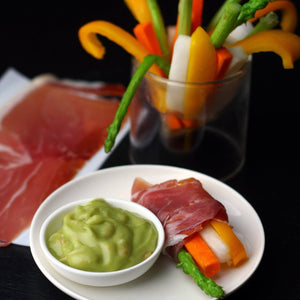 イタリア産 プロシュート(生ハム) スライス 200g Italian Prosciutto Slices 200g with ligthly saute vegetable