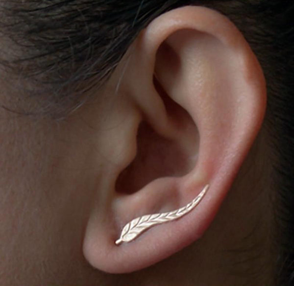 Feathered Leaf Earrings - Accessories - fnes