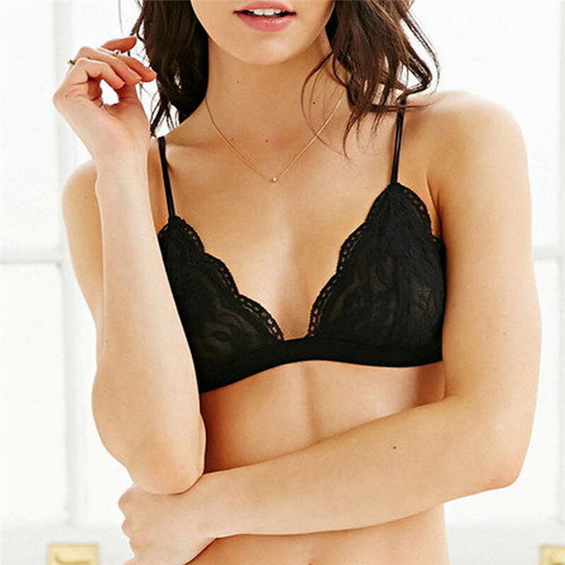 Scalloped Lace Bralette - Clothing - fnes