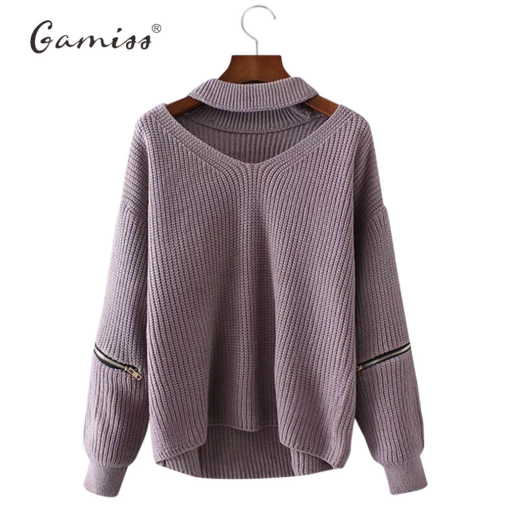 Gamiss Winter Spring Women Sweaters Pullovers Casual Loose Knitted Sweater Women Tricot Pullover Jumpers Oversized Mujer Sweater -  - fnes