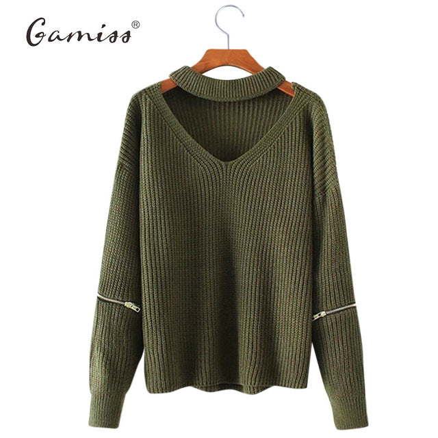 49323927fb4e Gamiss Winter Spring Women Sweaters Pullovers Casual Loose Knitted Sweater  Women Tricot Pullover Jumpers Oversized Mujer